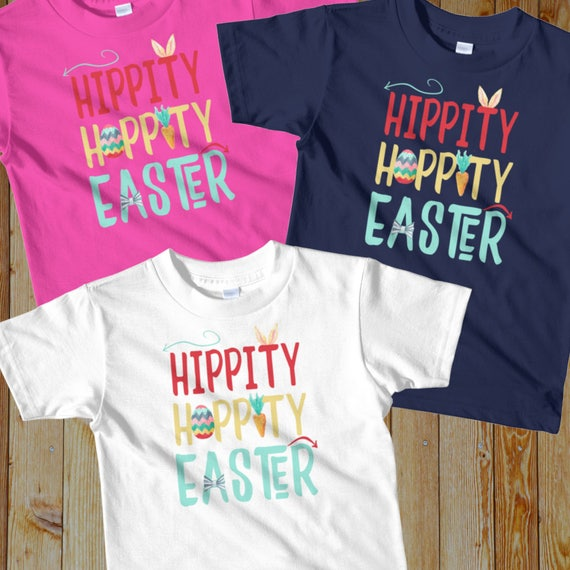 83f81739 Funny Boys and Girls Easter T Shirt Hippity Hoppity Easter tee   Etsy