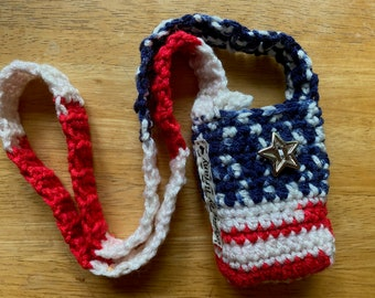 Patriotic Summer and July 4th Wearable Vape Case - Made to Order - Mod Holder - Vape holder - Mod Case - TELL ME your MOD