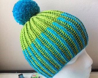 Two-toned Brioche Toddler Toque