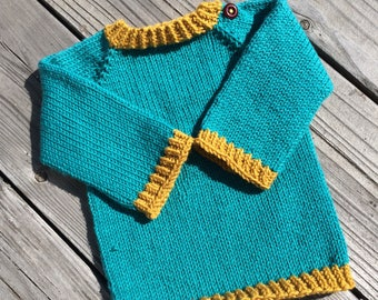 Vibrant 6 month size baby sweater