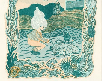 Witch Songs Series: 2-colour risograph prints