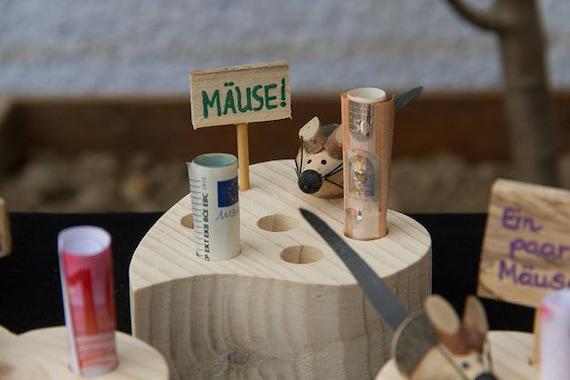Herz Mit Einer Maus Und Beschriftung Aus Holz Als Geldgeschenk Etsy