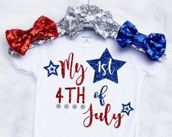 Baby Girl's First 4th Of July Onesie, Fourth Of July Onesie, Baby Youre A Firework Onesie, 4th Of July Outfit, First 4th Of July Shirt