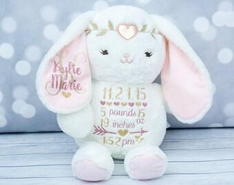 Birth Announcement Stuffed Animal Etsy