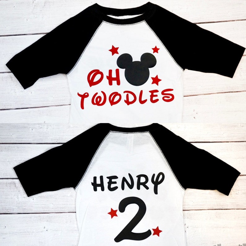Baby boys Twodles Shirt I'm Twodles Mouse Birthday image 0