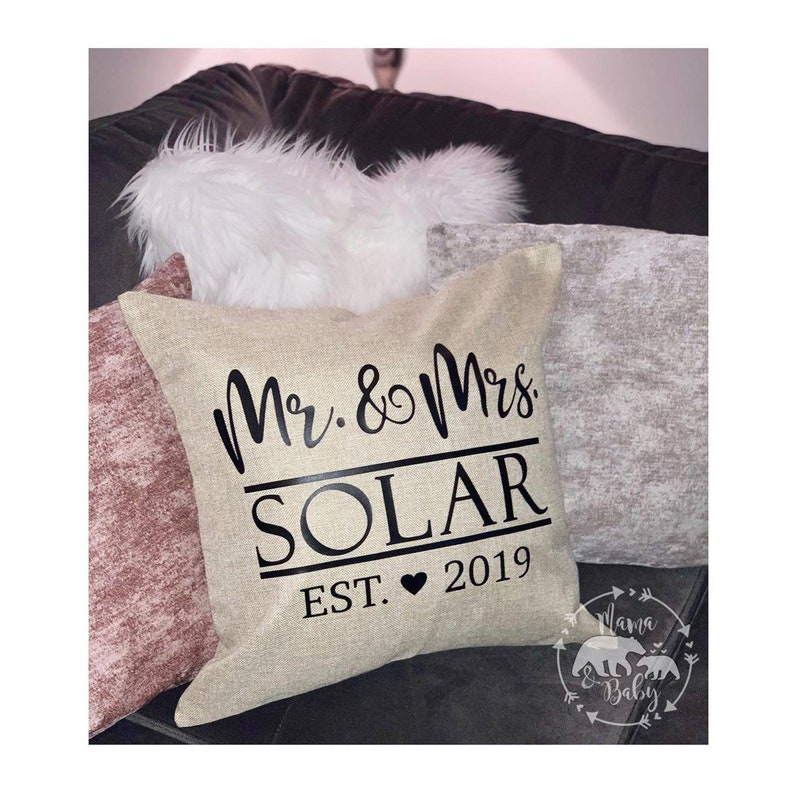 Mr and Mrs Pillow Cover Wedding Pillow Wedding Gift Bride image 0