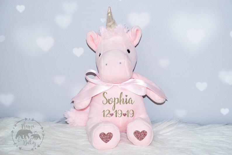 Baby Girls Personalized Unicorn Plush Unicorn Toy Unicorn image 0