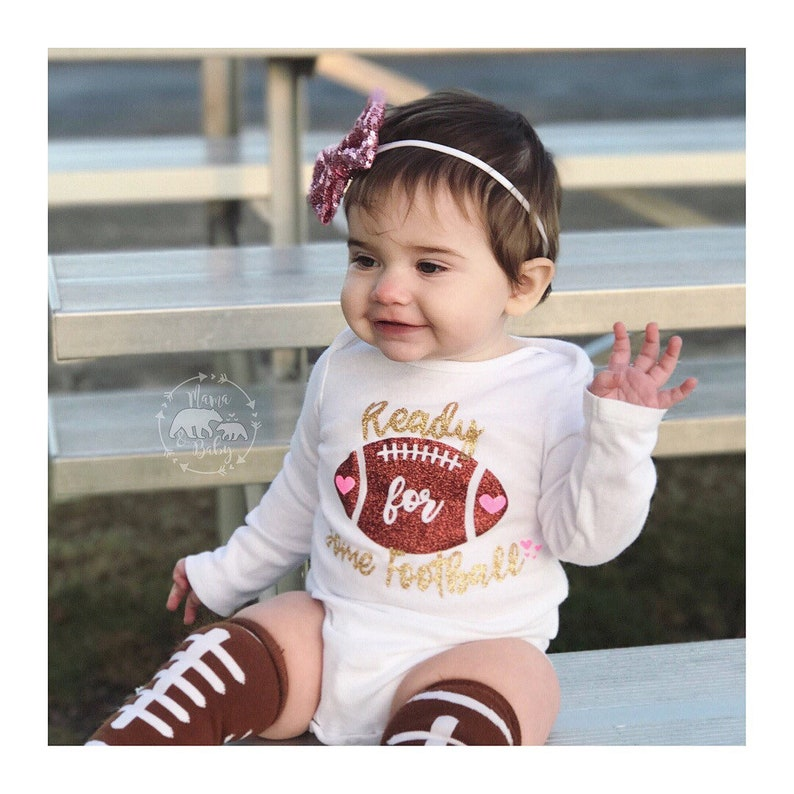 Football Onesie  Sundays Are For Football Shirt  Baby Girl image 0