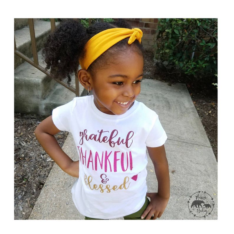Baby Girl's Grateful Thankful And Blessed Onesie  image 0