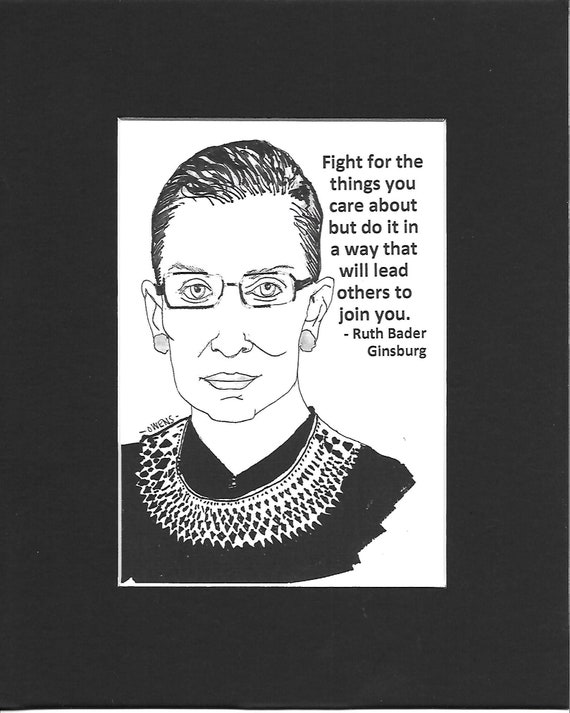 Ruth Bader Ginsburg Notorious RBG Women Rights Supreme Court Fight For The Things You Care About Equal Rights Shirt RBG Shirt