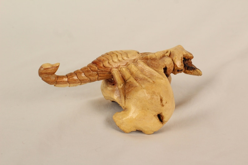 Beautiful Balinese Root Carved Sea Scorpion Carving Ethnic Tribal Art