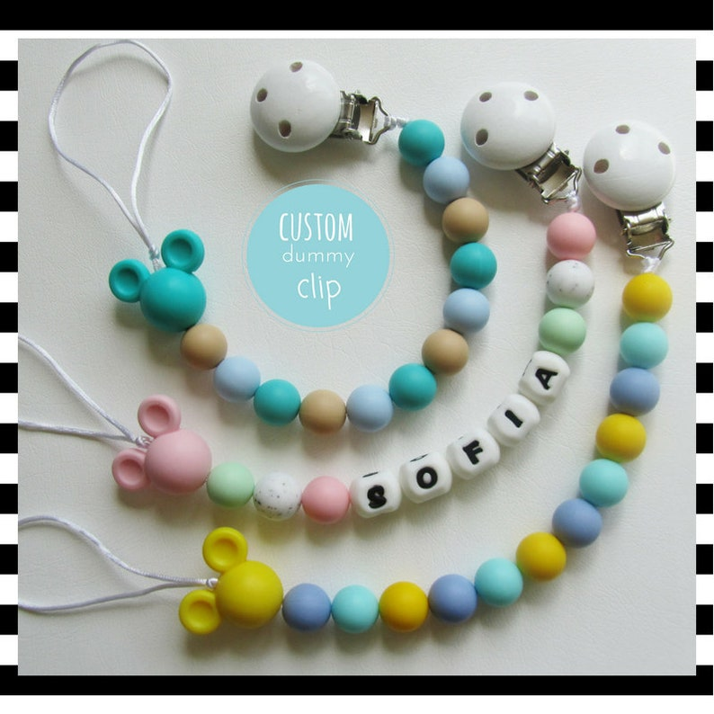 Beautiful Dummy Clip Baby Soother Clips Pacifier Strap Many Designs any 2 for 5£