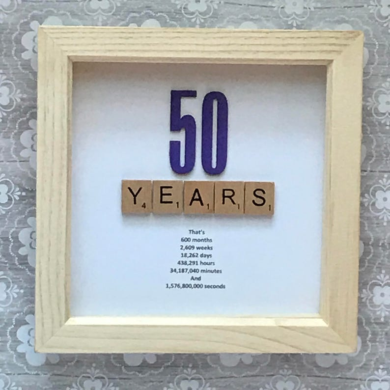 Milestone Age Birthday 30th 40th 50th 60th 70th 80th Photo Frame Keepsake Gift