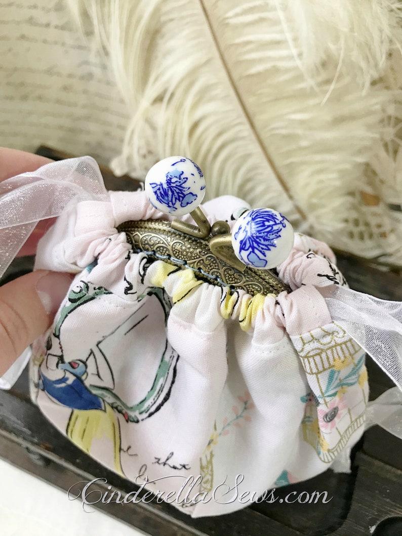 Ravenclaw Art Fleur Delacour Unique Coin Purse Harry Potter Fan Art Hand Embroidered Art Beauxbatons