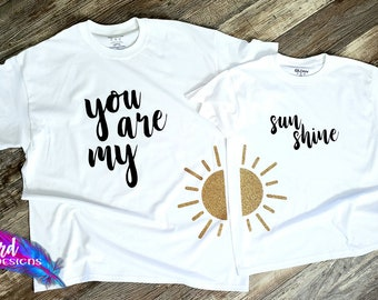 a1250b502 Mommy And Me You Are My Sunshine Shirt Set Matching Shirts Best Friends  Newborn Photos First Birthday Mom Life Rainbow Baby Mother Daughter