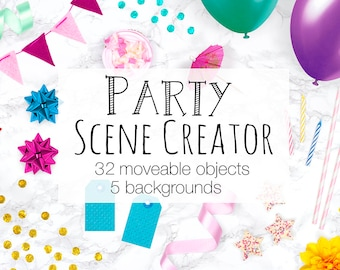 Party Scene Creator Moveable Mockup Card Mockup With