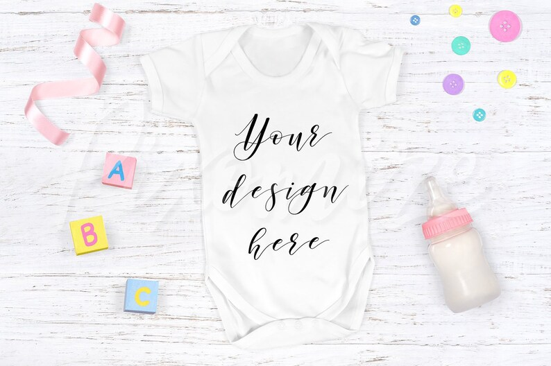 2b74ebea6 Baby Grow Mockup Baby Onesie Mock Up Romper Suit Photograph | Etsy