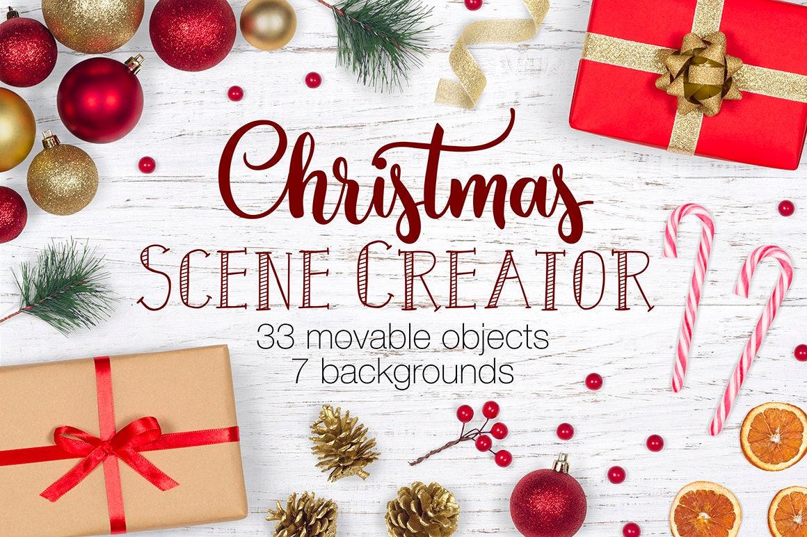 Christmas Scene Creator Winter Movable Mockup Christmas   Etsy