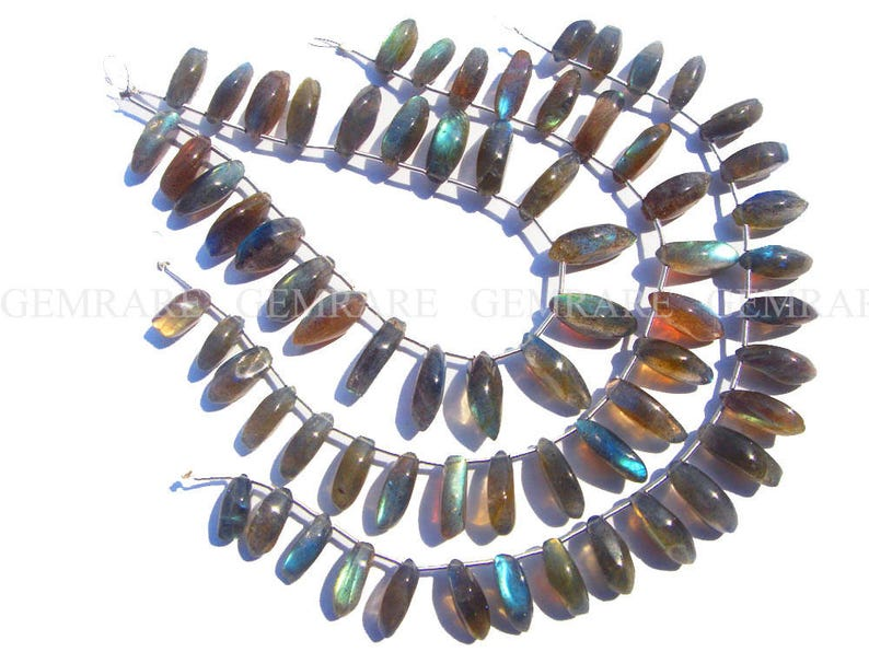 6x13 to 7x14.50 mm 22 pieces Semiprecious Gemstone Beads LAB-1062 Marquise Smooth Beads In Labradorite Beads 18 cm Quality A