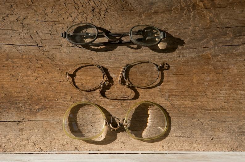 77580b996bf Antique Eyeglasses 1800s Spectacles Metal Frame Eyewear