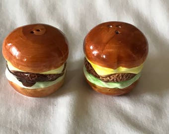 Cheese Burgers - Salt and Pepper Shakers