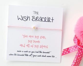 Kids Wish Bracelet, Wish Bracelet, Girls Wish Bracelets, Children's Gift, Initial Bracelet, Kids Gift, String Bracelet, Positivity Bracelet,