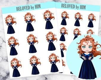 Princess Merida - Brave - Planner Stickers