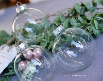 Christmas balls transparent