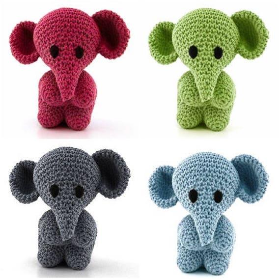 Enganchadizo Crochet DIY Kit Mo el elefante Amigurumi Eco   Etsy