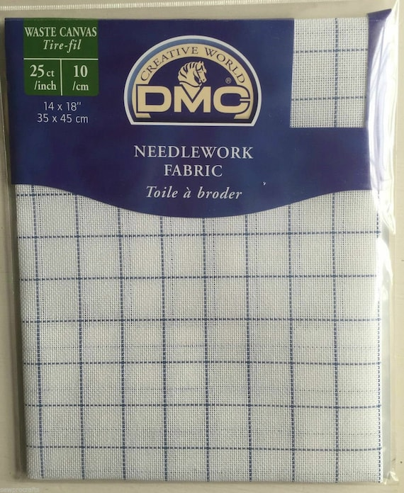 "DMC Needlework Fabric 14 Count Waste Canvas Cross Stitch Fabric 14/"" x 18/"""