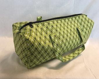 Luxury Knitting Bag Craft Bag Gift Hobby Sewing - Lime Green/Black Design
