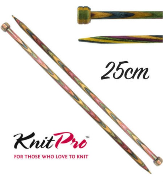 9 mm diameter straight single point Knitting needles Bamboo Wooden 35cm long