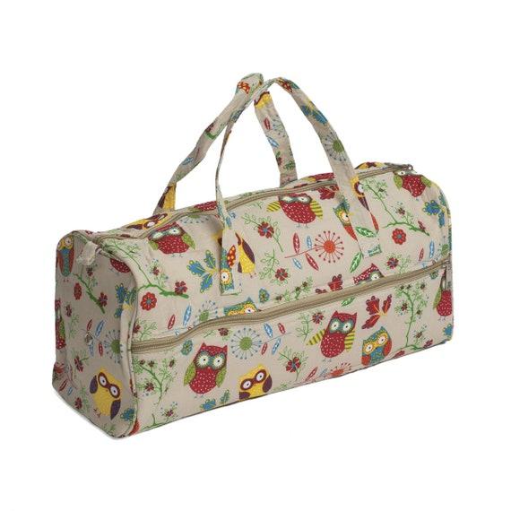 Personalizado Knitting Craft bolsa de almacenamiento-de Tejer Lana Y Agujas Diseño