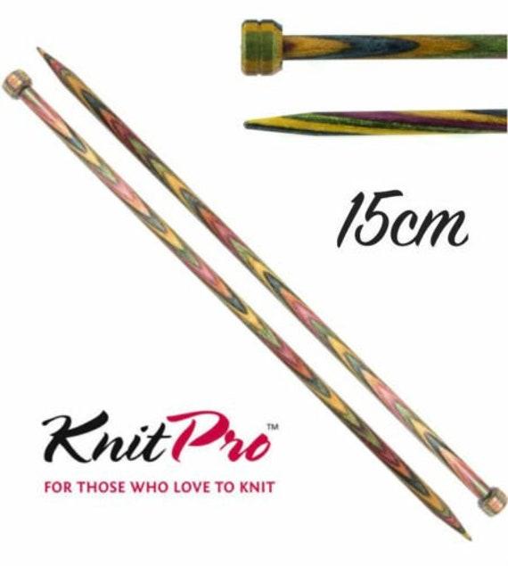 Single Point Knitting Needles KnitPro Symfonie Wood 15cm Straight