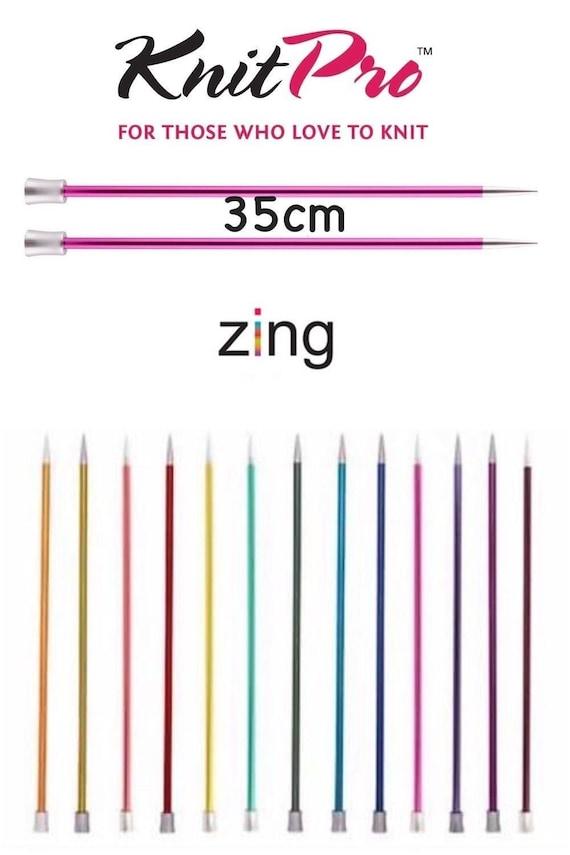 Single Point Knitting Needles Set Aluminium KnitPro Zing Set Straight