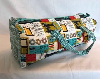 Luxury Knitting Bag Craft Bag Gift Hobby Sewing Yarn-Blue/Red Sewing Design