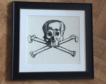 Skull And Crossbones Hand Embroidery