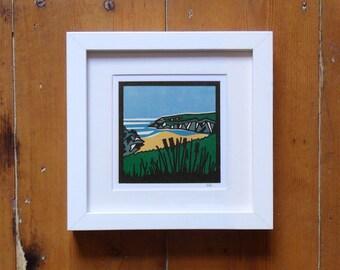 Porth Joke / Polly Joke Beach, Newquay, Cornwall – Small Print Cornwall Print