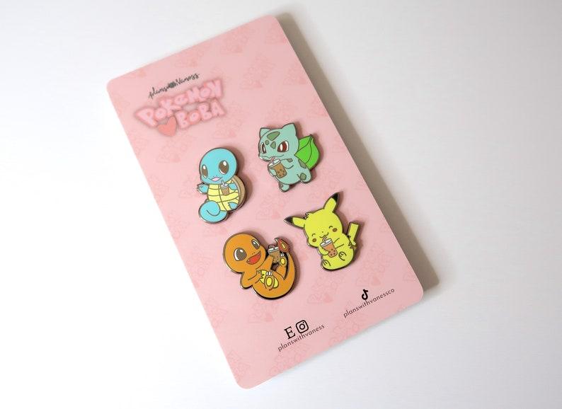 Bulbasaur Bobasaur Pokemon Loves Boba Hard Enamel Pin