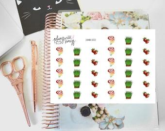 Jamba Juice (Fruit, Smoothie, Healthy) Hand Drawn Planner Stickers
