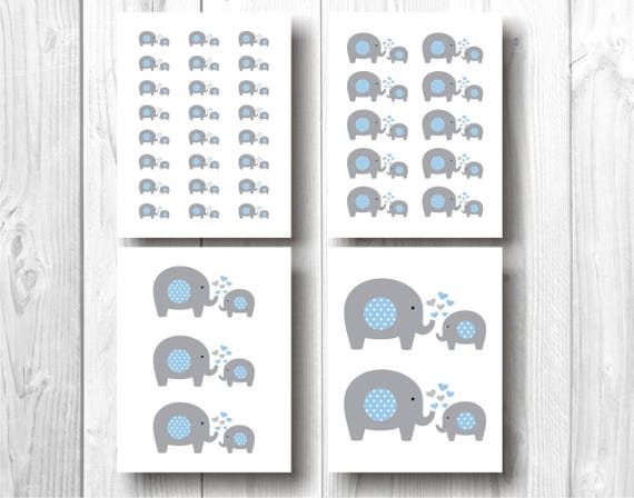 Elefantes Para Decoracion De Baby Shower Nino Baby Shower Etsy