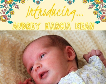 Birth Announcement (digital file)
