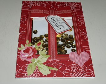 Just For You Valentine Shaker Card