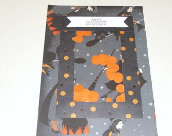 Halloween Witch Shaker Card