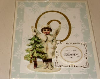 Christmas Tis The Season Angel Card