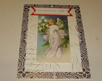 Christmas Glorious Wishes Angel Card