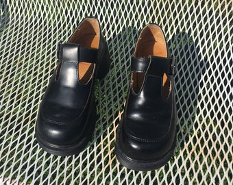 90s Dr Martens Black Mary Janes Made in England