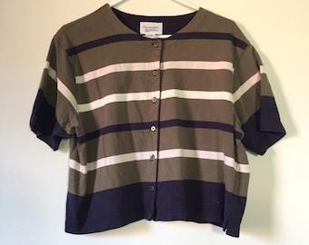 Vintage 90s Cotton Striped T-Shirt