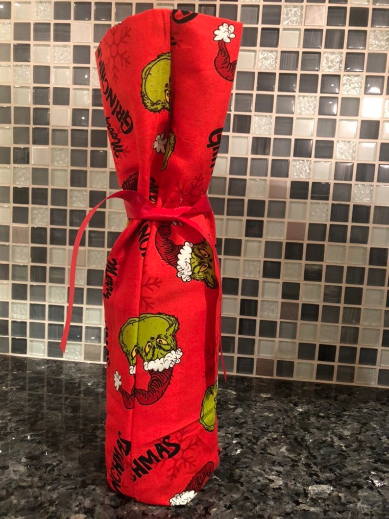 Merry Grinchmas Wine Bag
