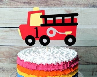 Cake Toppers Fire Truck And Station Decorating Kit Topper Decoration Fireman